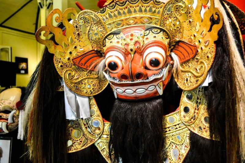 A mask from the Setia Darma House of Masks and Puppet Museum in Bali, Indonesia