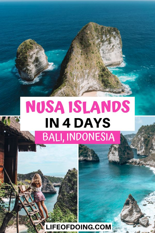When you explore Nusa Islands for four days, you'll visit the highlights such as Kelingking Beach, Rumah Pohon treehouse, and Diamond Beach.