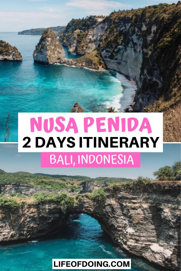 Diamond Beach and Broken Beach are the top two attractions to visit during your 2 days in Nusa Penida, Indonesia