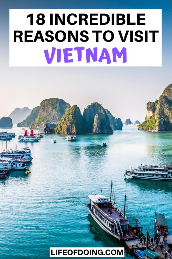 One of the best reasons to visit Vietnam is to see pretty landmarks such as Halong Bay and stay overnight on a junker boat.