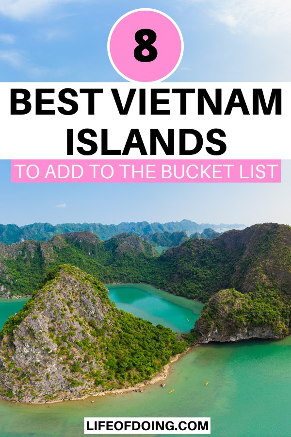Aerial view of Cat Ba Island, one of the best Vietnam islands to visit