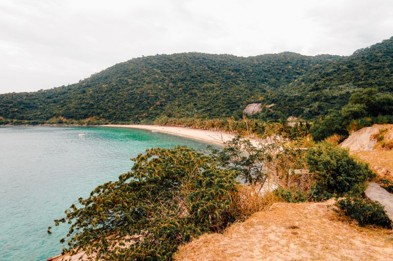 View of the beaches and waters in Cham Islands, Vietnam