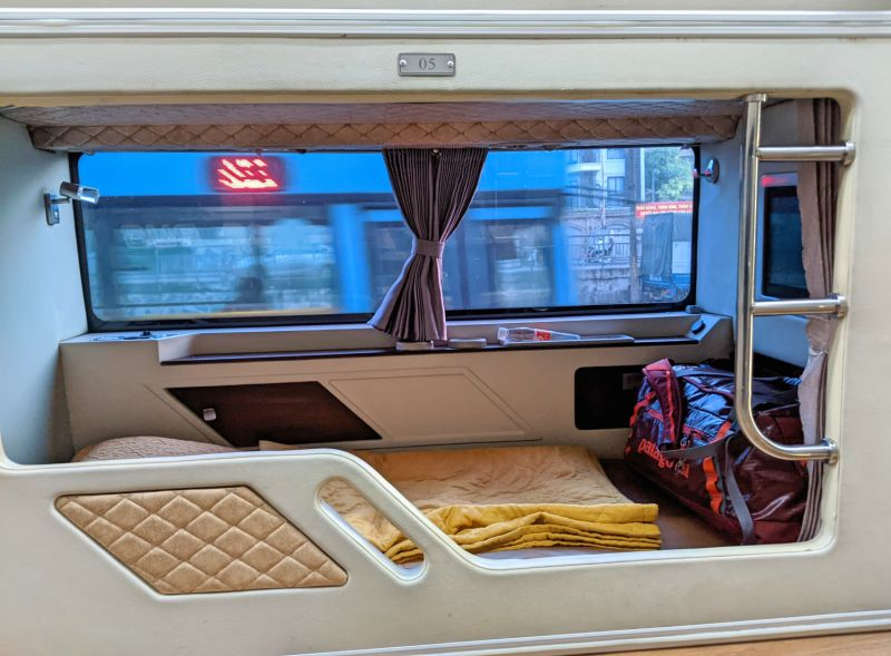 Fansipan Express is one option to get from Hanoi to Sapa and visitors enjoy a lie-flat bed with pillow and blanket.