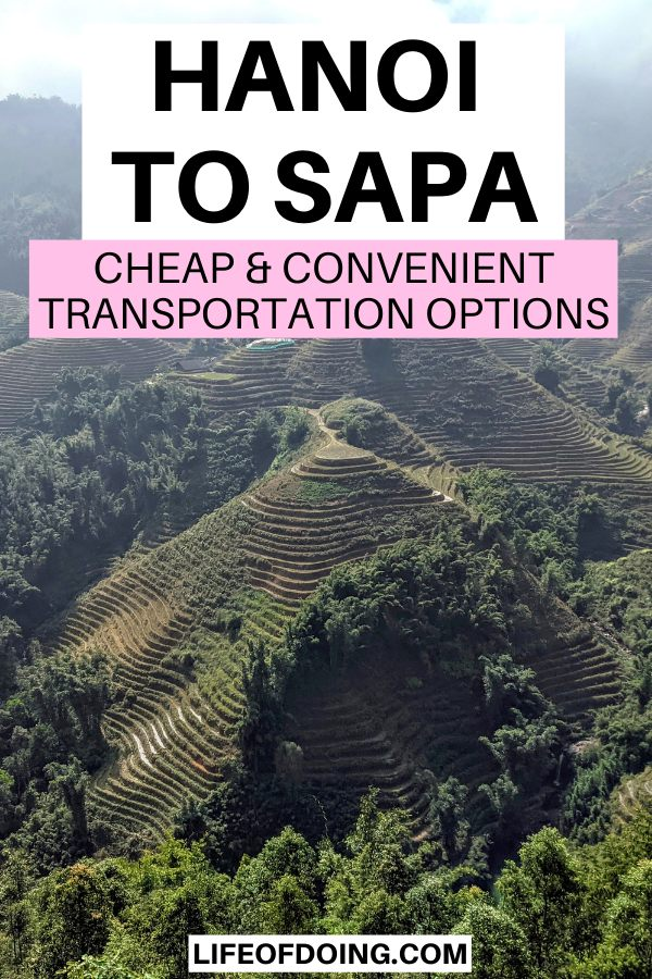 To see the green rice terraces in Sapa, travelers must travel from Hanoi to Sapa via differerent transportation options such as bus, trains, and cars.
