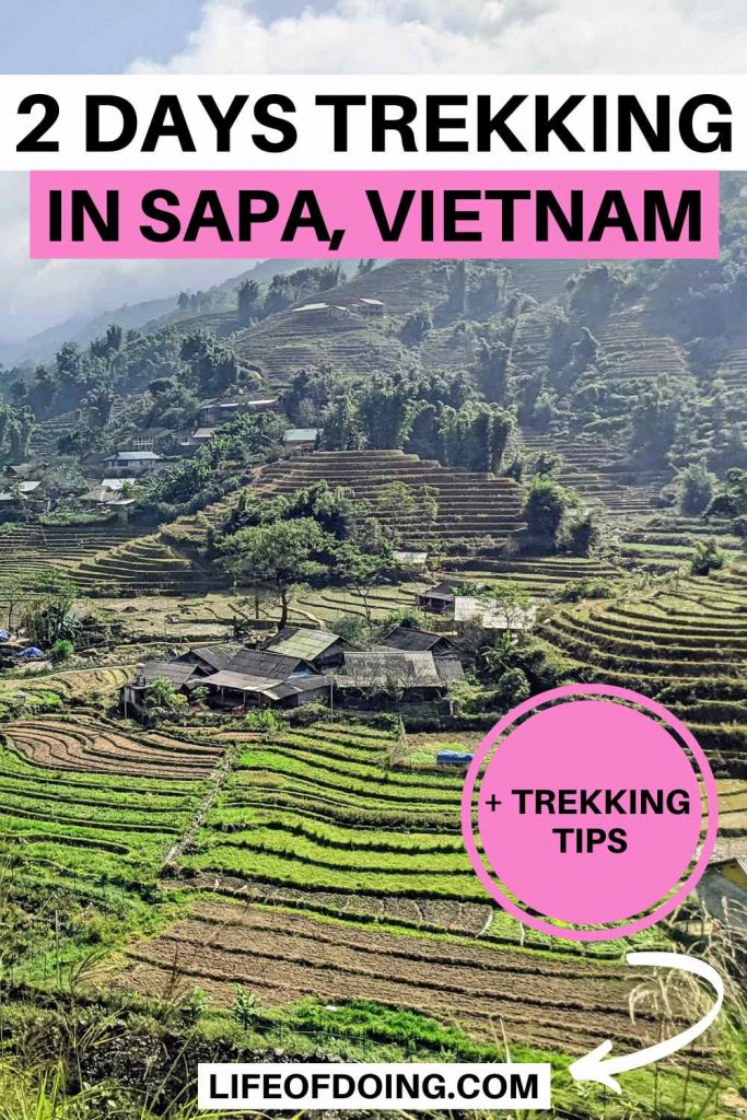 When trekking in Sapa in 2 days, you'll see green rice fields and luscious rice terraces on the mountains.