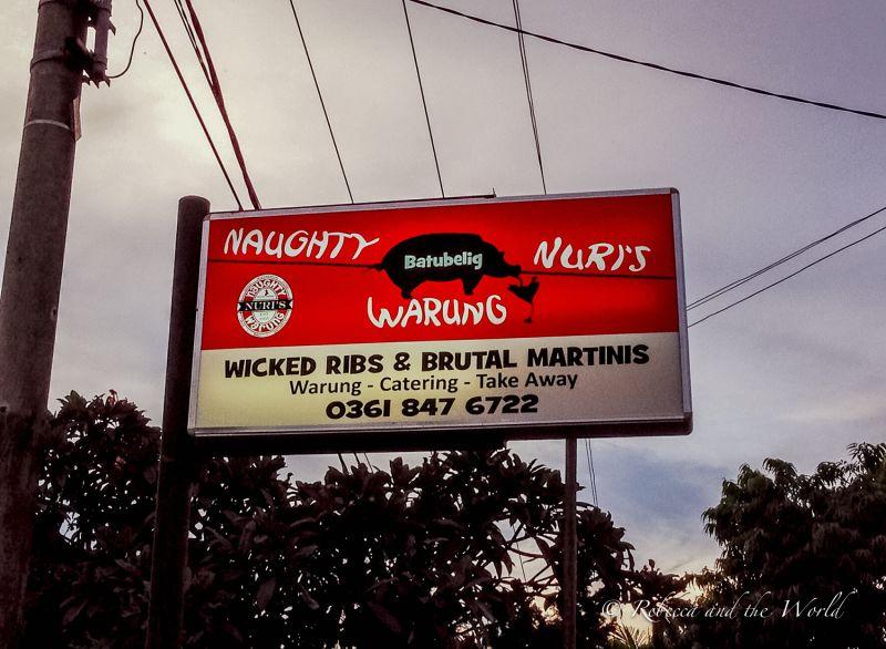 Naughty Nuri's Warung restaurant sign