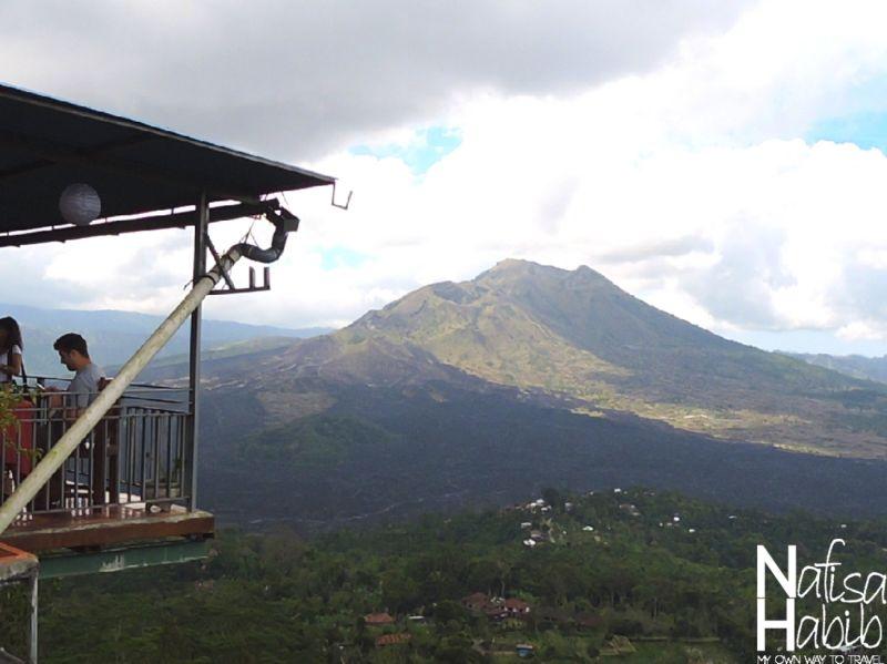 View of Mount Batur from the Tepi Danau Restaurant