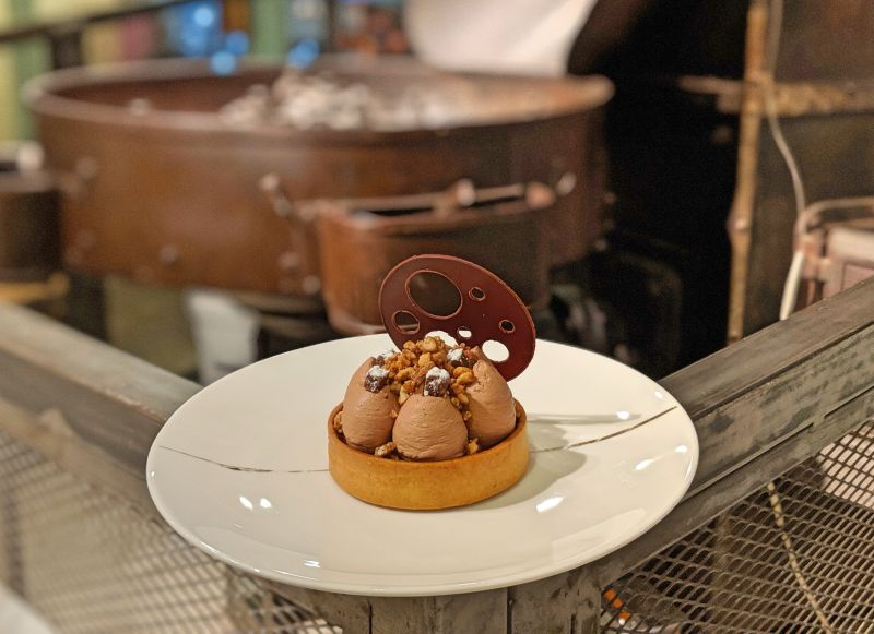 Chocolate mousse dessert at Maison Marou in Ho Chi Minh City, Vietnam