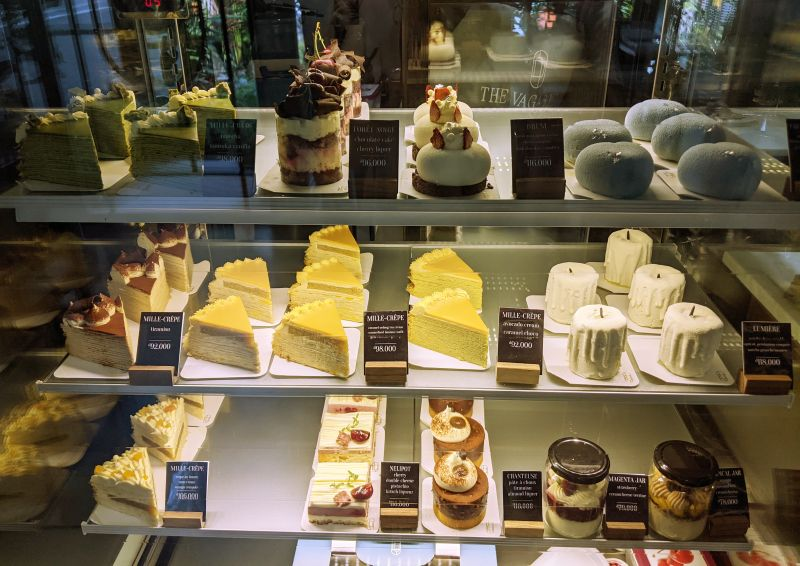 Array of desserts from The Vagabond Patisserie and Cafe in Ho Chi Minh City, Vietnam