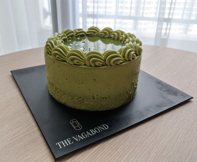 Matcha cake from The Vagabond Patisserie in Ho Chi Minh City, Vietnam