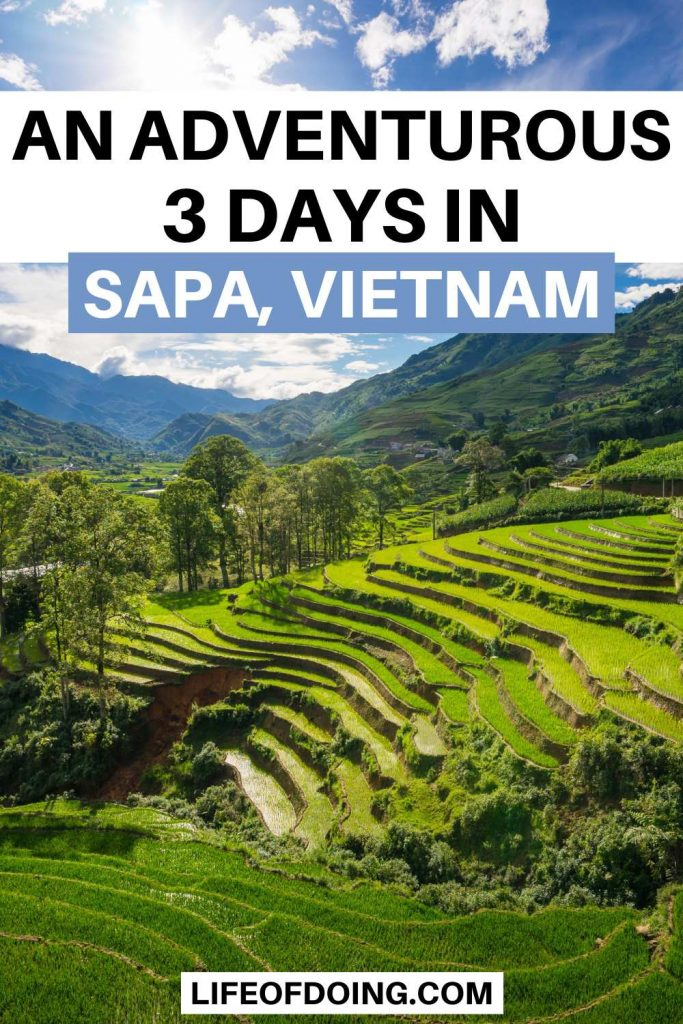 Green rice terraces is one of the best things to do during your 3 days in Sapa, Vietnam