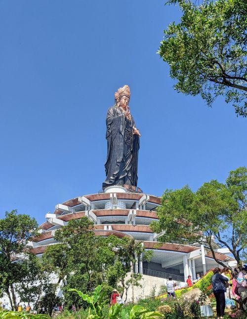 Bronze statue of Lady Buddha at Sun World Ba Den theme park in Tay Ninh, Vietnam