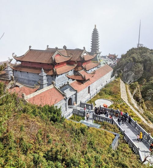 View of the pagoda area at Sun World Fansipan Legend in Sapa